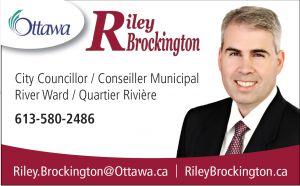 Photo of Riley Brockington's business card